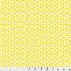 Tula Pink True Colours Hexy Fabric - Sunshine