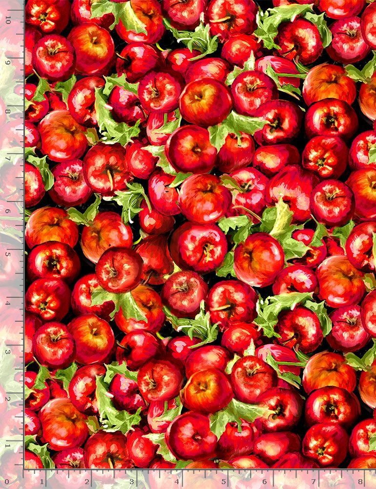 Timeless Treasures Farm Life Apples Fabric