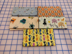 Lewis & Irene Poodle & Doodle Cream Fat Quarter Bundle