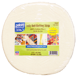 "Jelly Roll Batting Strip 2.5"" x 25 yards"