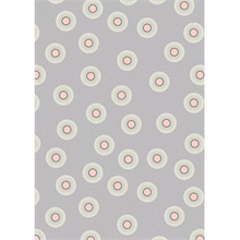 Load image into Gallery viewer, Lewis & Irene Forme Flower Dots Quilting Fabric - Grey