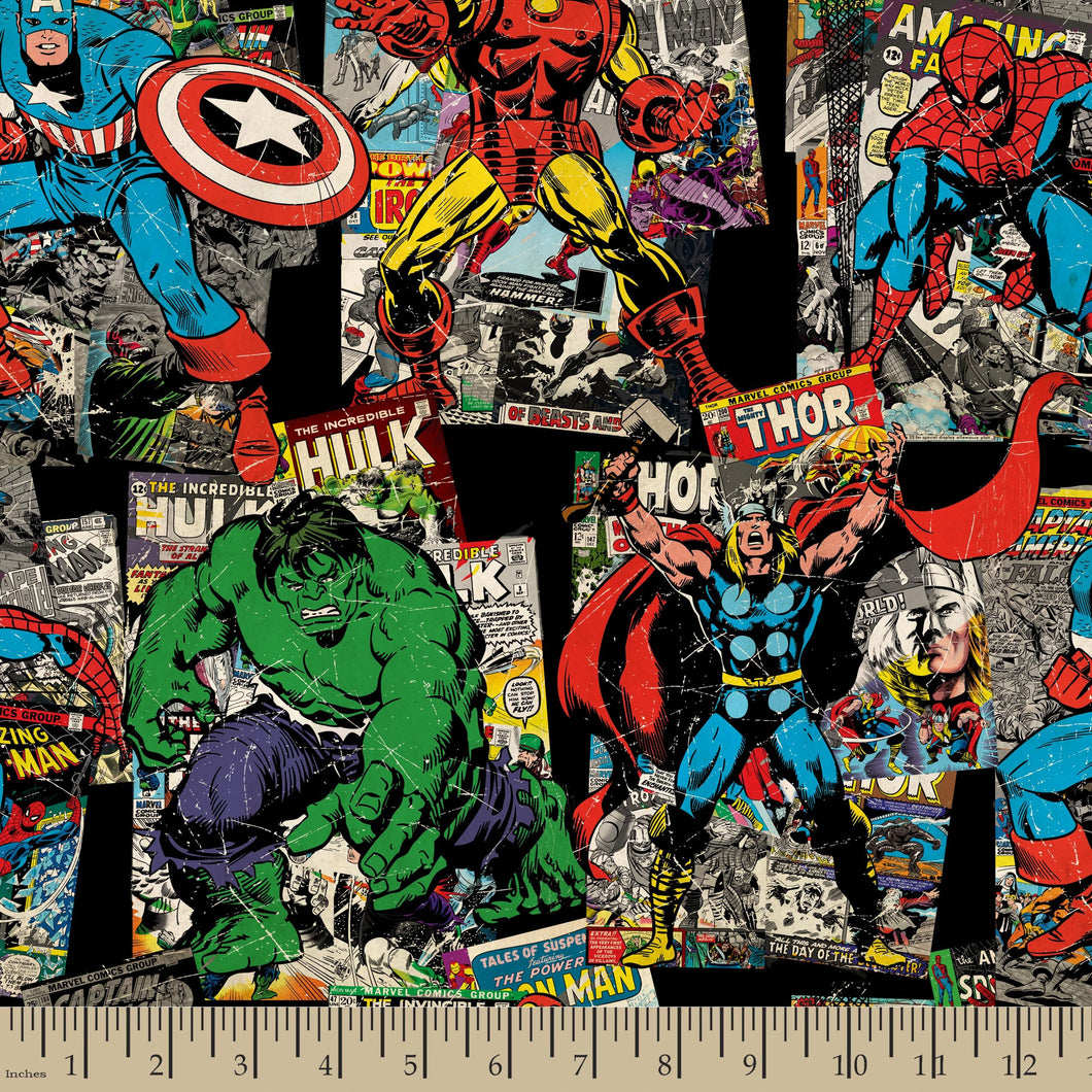 Marvel Comics Vintage Character Cotton Fabric