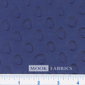 Navy Blue Minky Dot Fabric
