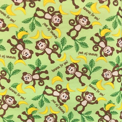 Monkeys Bananas For You PUL Fabric