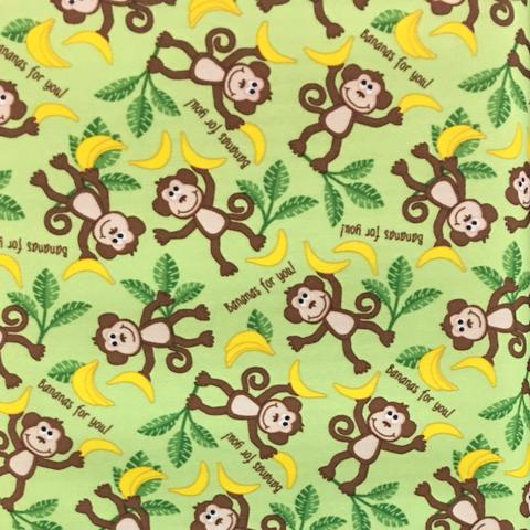 Monkeys Bananas For You PUL Fabric 13