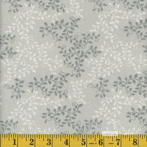 Silver Leaves Quilt Backing fabric