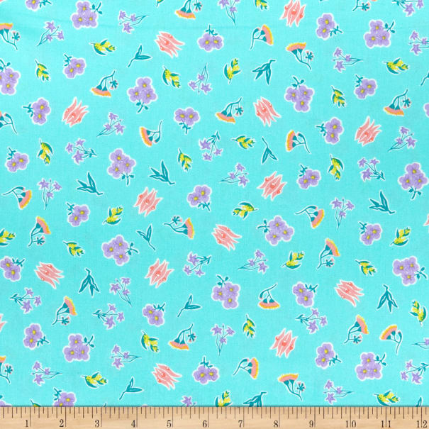 Nerida Hansen Around Oz Ditsy Floral - Coastal