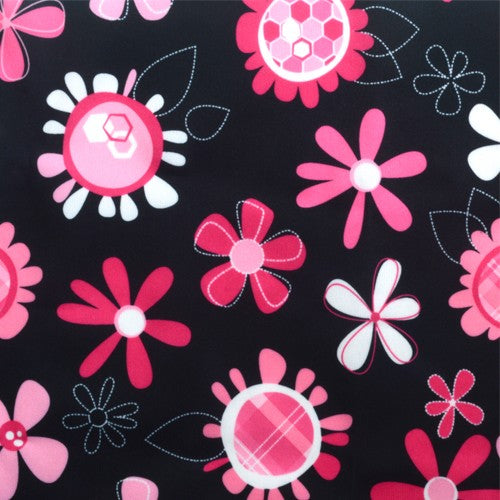 Pink Floral PUL Fabric 11