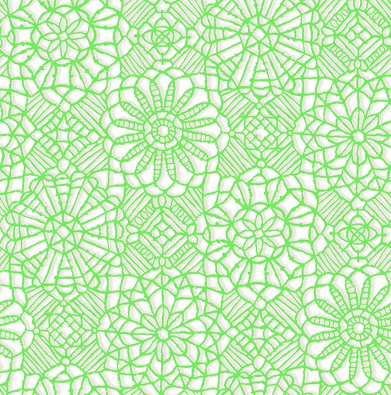 Quilting Treasures Amazing Lace Green On White