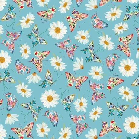Quilting Treasures Daisy Meadow Daisy & Butterfly