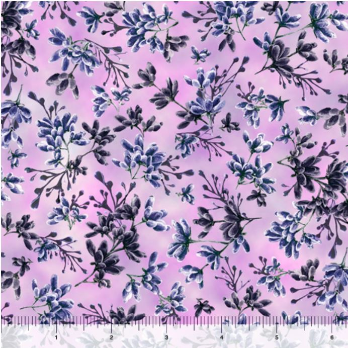Quilting Treasures Simone Flower Buds - Pink