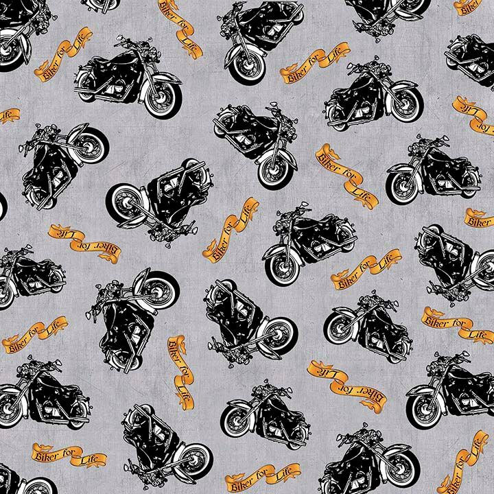 Motorcycle Quilting Cotton