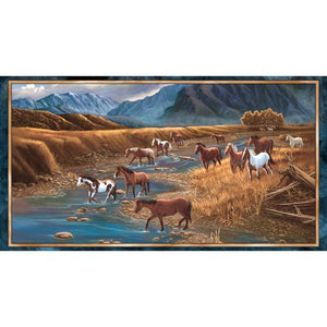 Mountain Horse Quilt Panel