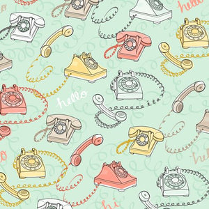 Rotary Phone Quilting Cotton