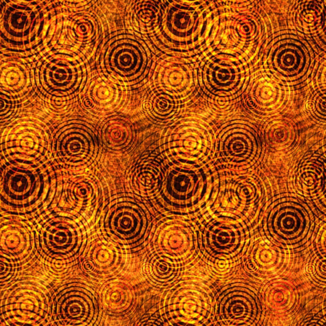 Quilting Treasures Good Vibrations Sound Waves Fabric - Orange