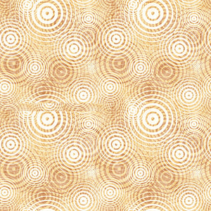 Quilting Treasures Good Vibrations Sound Waves Fabric - Tan