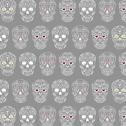 Sweet Rebellion Sugar Skulls Fabric