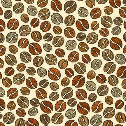 Robert Kaufman Coffee Break Beans - Ivory