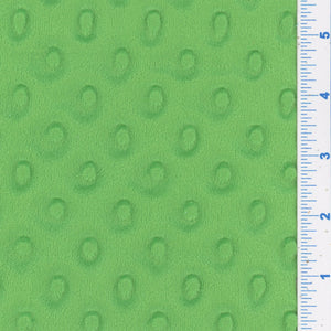 Apple Green Minky Dot Fabric