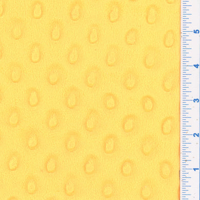 Banana Minky Dot Fabric