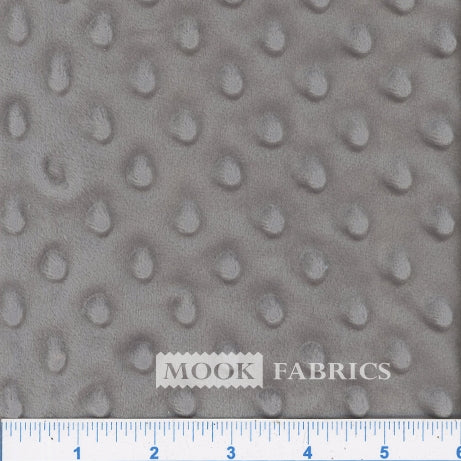 Grey Minky Dot Fabric