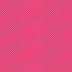 "Hot Pink Polka Dot PUL Fabric 12"" Remnant"