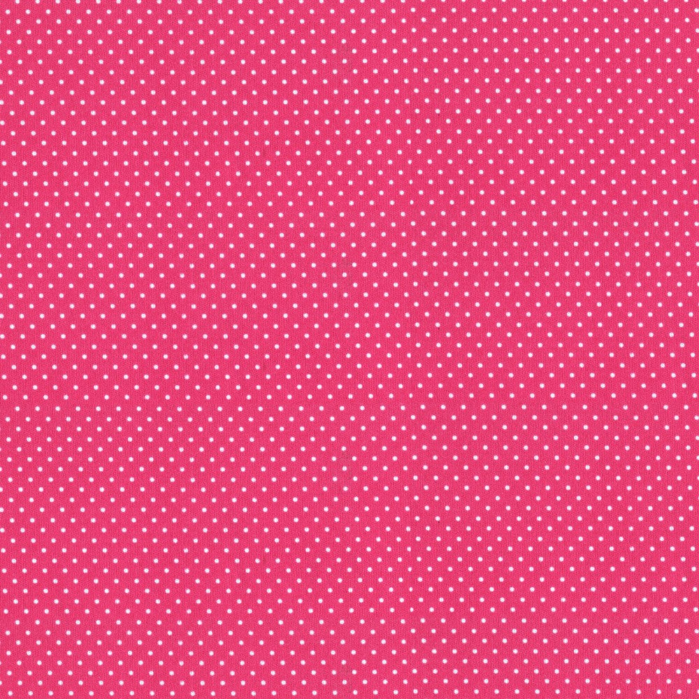 Hot Pink Polka Dot PUL Fabric 12