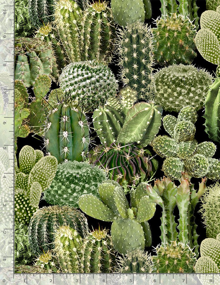 Timeless Treasures Southwest Cacti