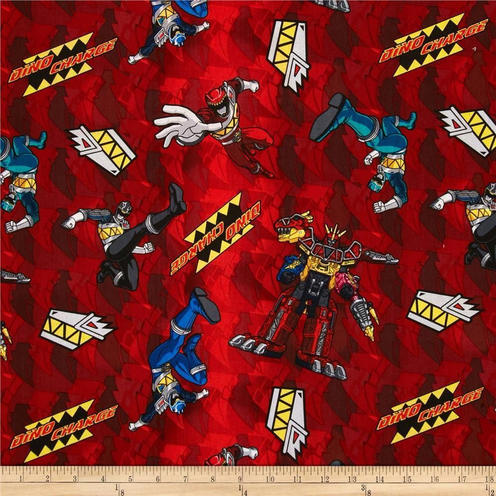 Power Rangers Fabric - Red