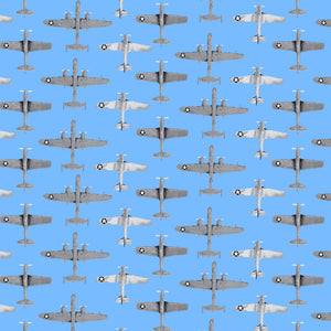 Studio E Small Planes Quilting Fabric - Blue