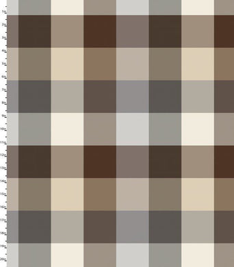 Peppered Plaid Brown Blender Quilting Fabric