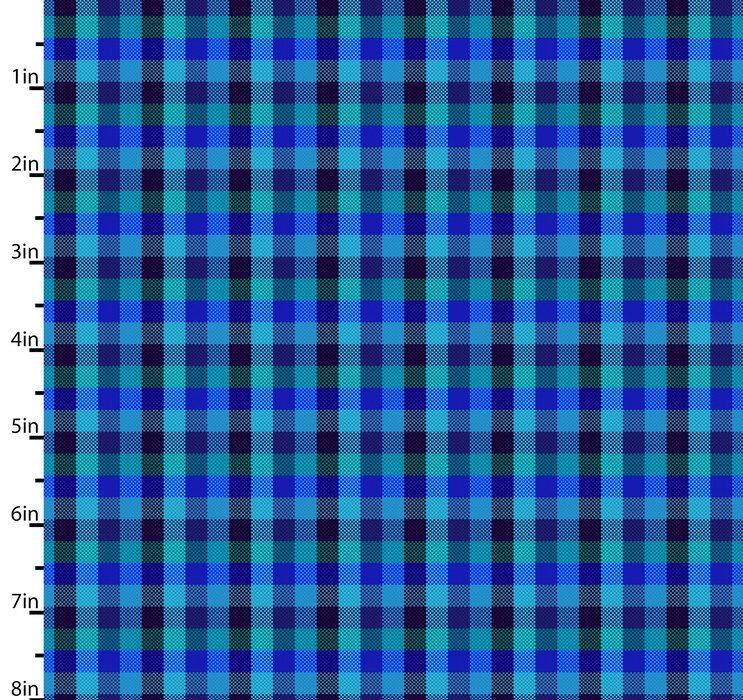Peppered Small Plaid Blue Blender Quilting Fabric