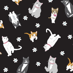 Studio E Cattitude Cats Black Quilting Fabric