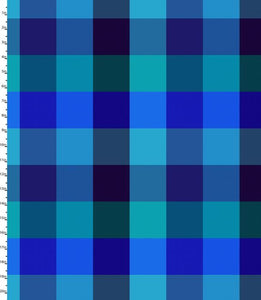 Peppered Plaid Blue Blender Quilting Fabric