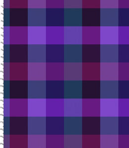 Peppered Plaid Purple Blender Quilting Fabric