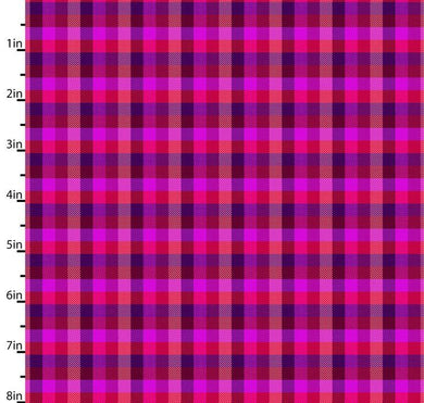 Peppered Small Plaid Pink Blender Quilting Fabric