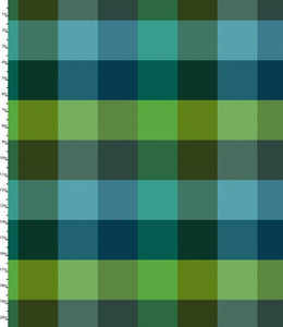 Peppered Plaid Green Blender Quilting Fabric