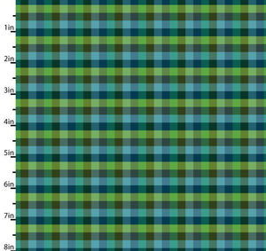 Peppered Small Plaid Green Blender Quilting Fabric