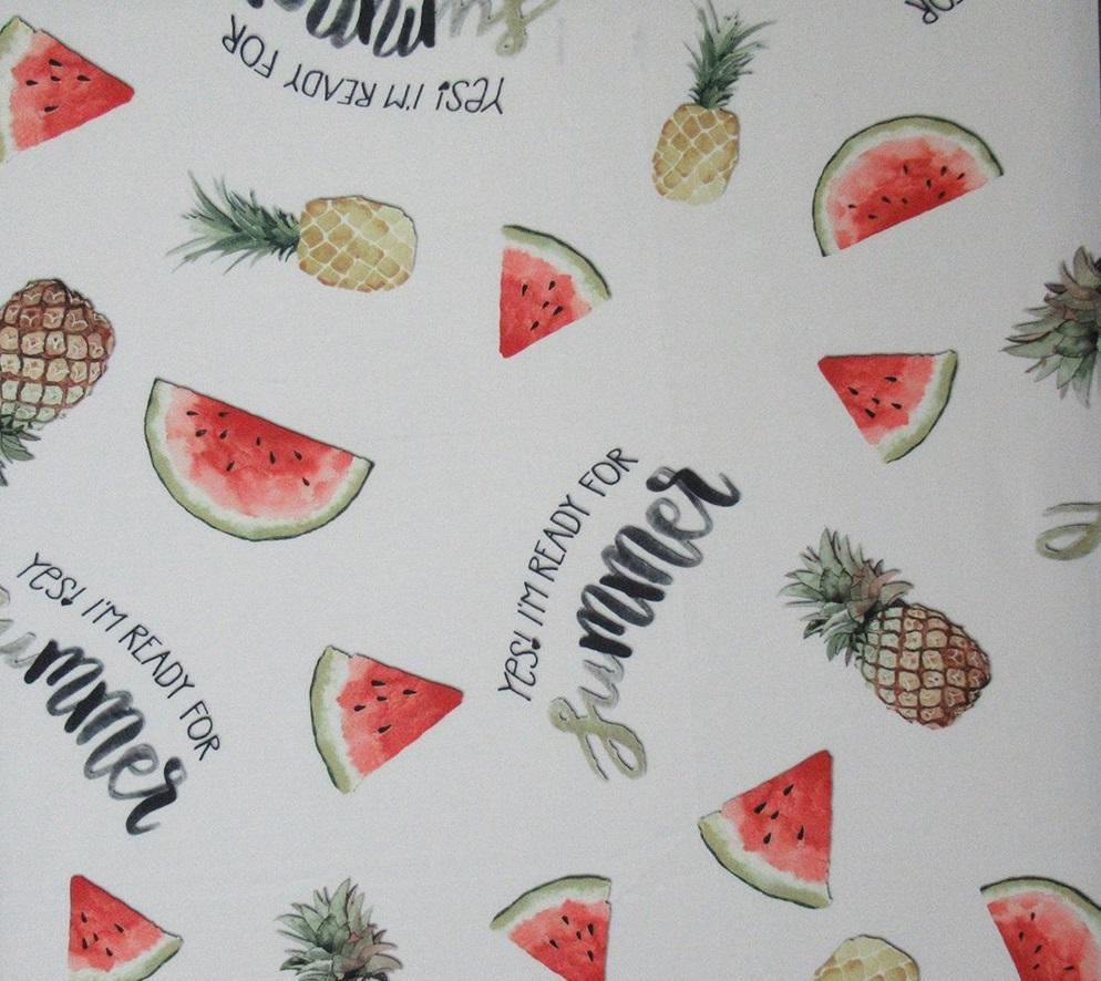 Pineapple And Watermelon PUL Fabric