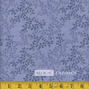 Leaves Quilt Backing Fabric - Navy