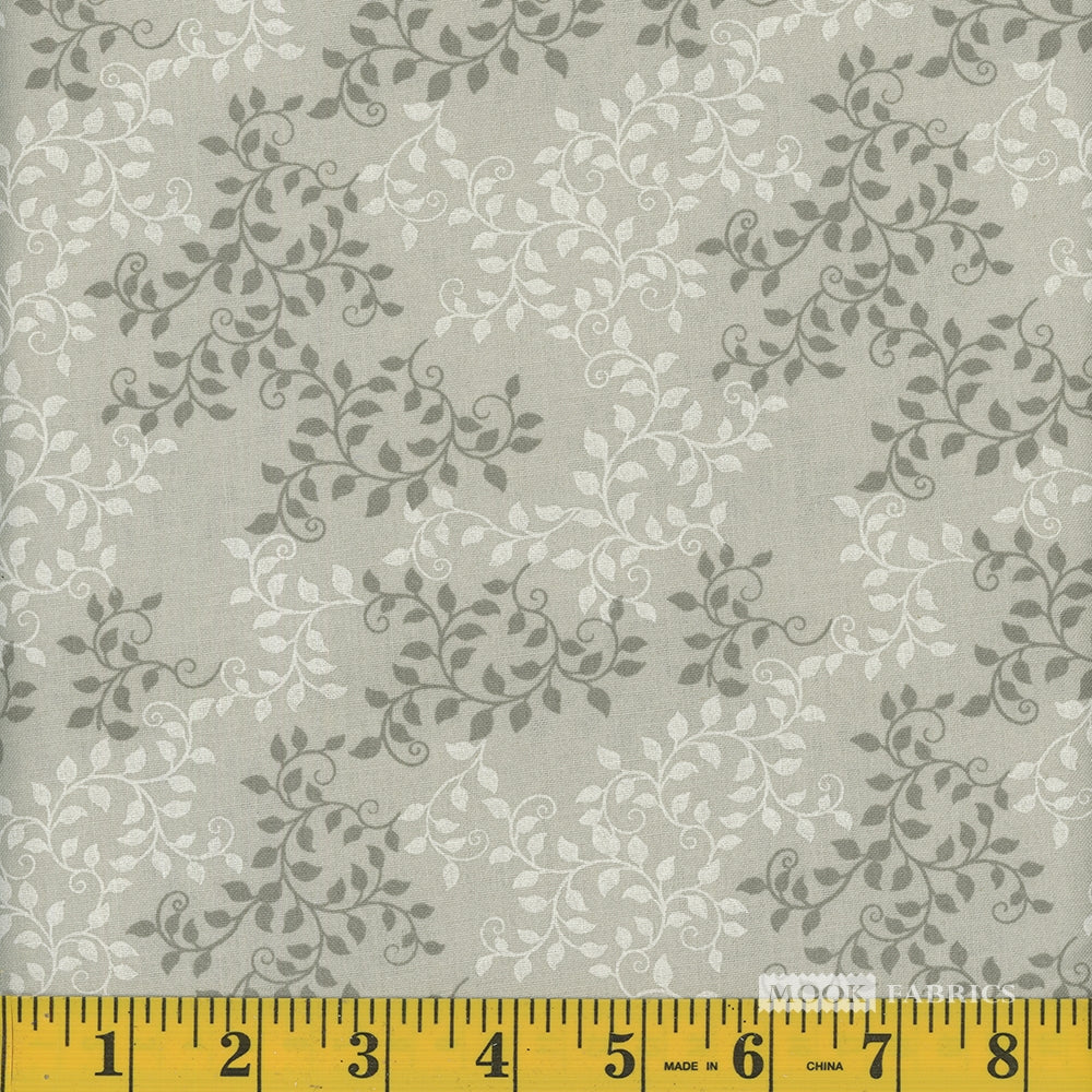 Leaves Quilt Backing Fabric - Sand