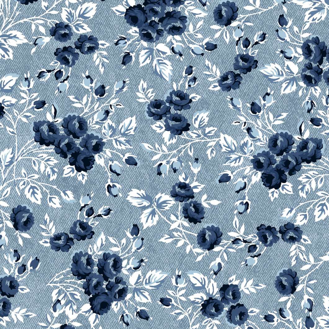 Windham Gina Blue Floral Fabric