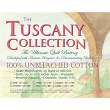 Hobbs Tuscany Supreme 100% Unbleached Cotton Batting