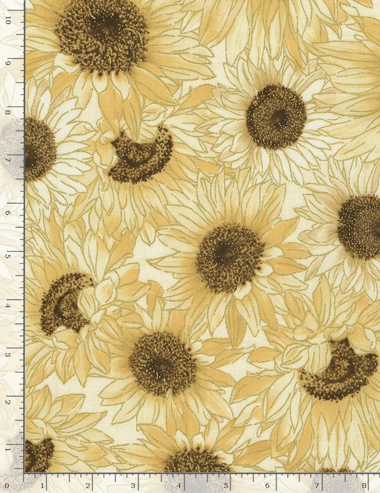 Timeless Treasures Country Harvest Sunflower Fabric