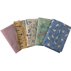 Lewis & Irene From Old Harry Rocks Blue Fat Quarter Bundle