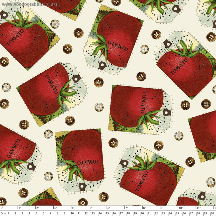 Tomato pin cushion quilting fabric