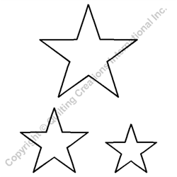 Star Block 1.5, 2, and 3 Inch Quilting Stencil
