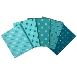 The Craft Cotton Company Aqua Fat Quarter Bundle