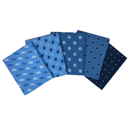 The Craft Cotton Company Blue Fat Quarter Bundle