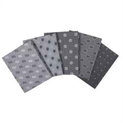 The Craft Cotton Company Grey Fat Quarter Bundle